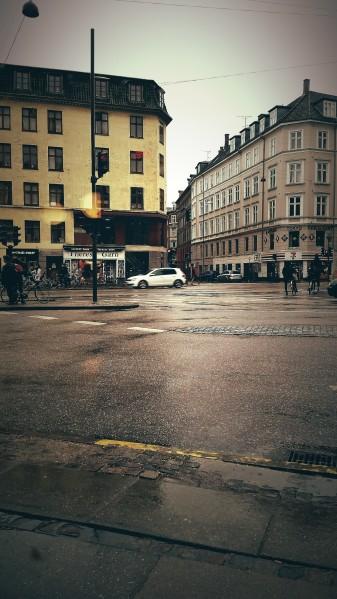 A rainy day.